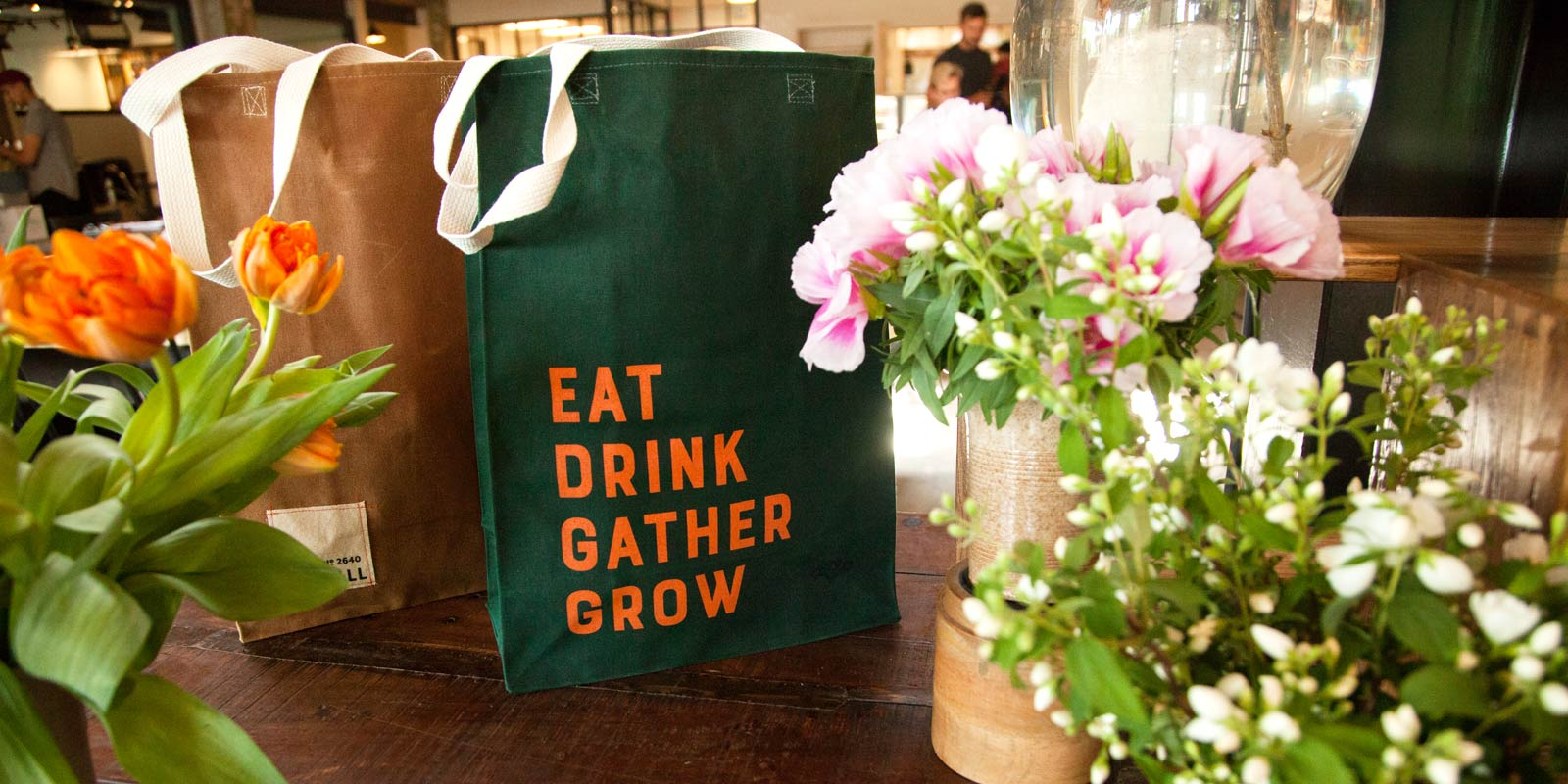 lynhall bags flowers eat drink gather grow